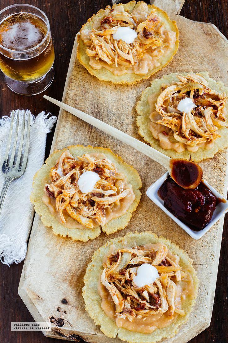 Tostadas de pollo al chipotle. recetas con fotografías del paso a paso y recomendaciones de degustación. Recetas comida mexicana...