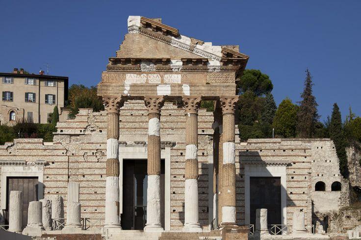 Il Capitolium, tempio romano del I secolo d.C.