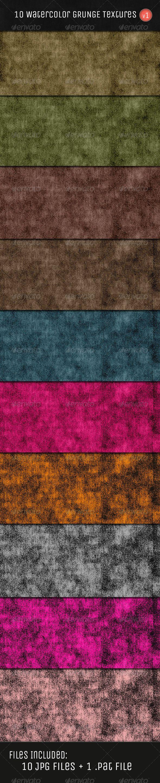 Water Color Grunge Textures V1