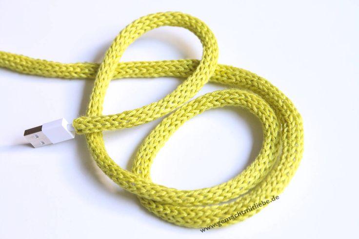 Kabel verschönern: Einstricken mit der Strickliesel!