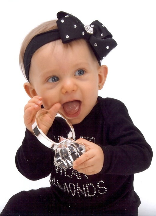 Diamonds Girls Best Friend Baby Headband Bows