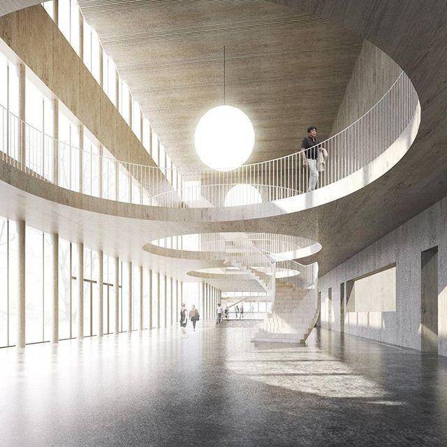 Centre culturel Skelleftea de Dehlin Brattgard Architecture | Tag #illustrarch t …