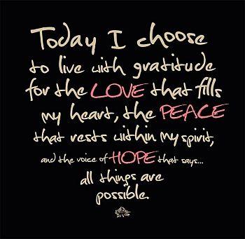 Choose Gratitude
