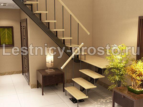 Лестница на монокосоуре П-образная (1) - купить в Москве - Мегамаркет лестниц