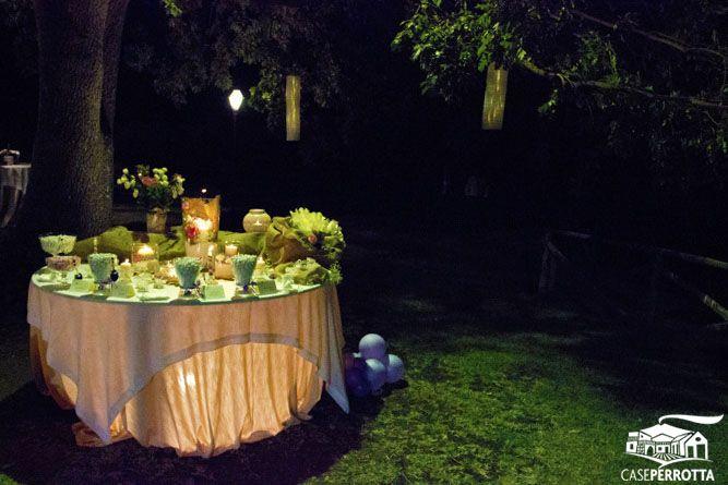 Allestimento confettata matrimonio serale
