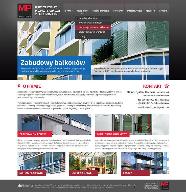 WebDesign 2014 - grafika dla firmy MP Alusystem 2014