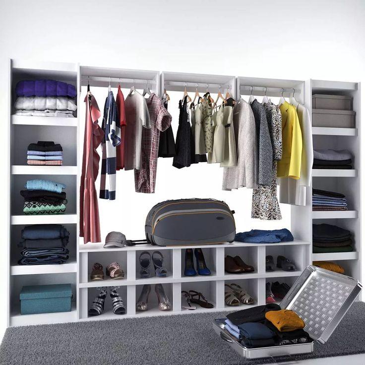 Conjunto De Closet Modulados Completo Branco - Urbe Móveis - R$ 1.299,00 em Mercado Livre
