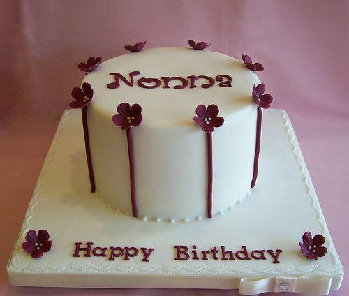 White Elegant Birthday Cakes For Girls