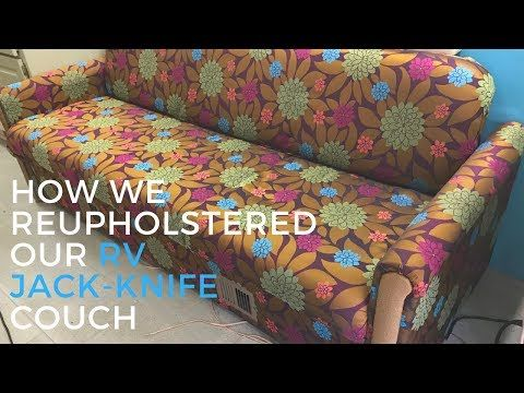 how to take apart an futon rv couch rv furniture youtube rv reupholster couch sofa. Black Bedroom Furniture Sets. Home Design Ideas