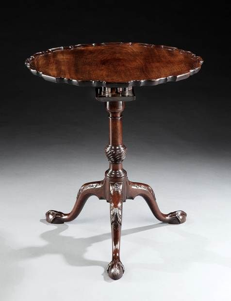 A GEORGE II MAHOGANY TRIPOD TABLE - English Antique Furniture – Ronald Phillips Antique...