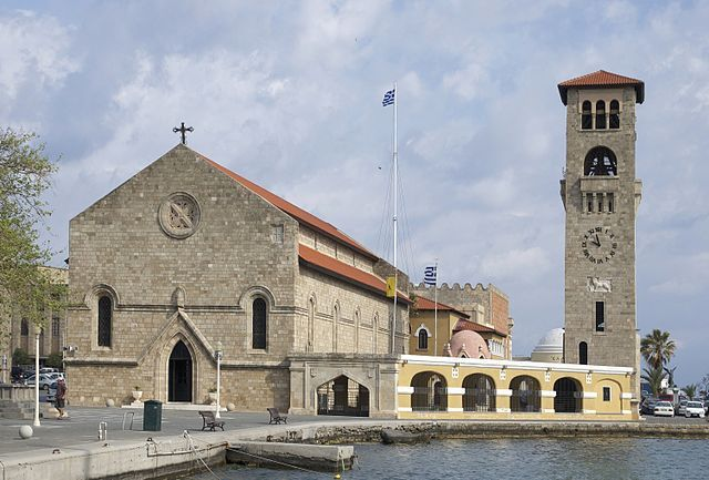 Evangelismos Church. Built in 1925 by The Italian Occupation and now The Main Greek Orthodox Church in Rhodes Town!  https://theislandofrhodes.com/the-city-of-rhodes-in-greece