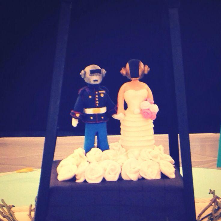 Wedding cake for Daft Punk fans #DaftPunk #wedding #cake