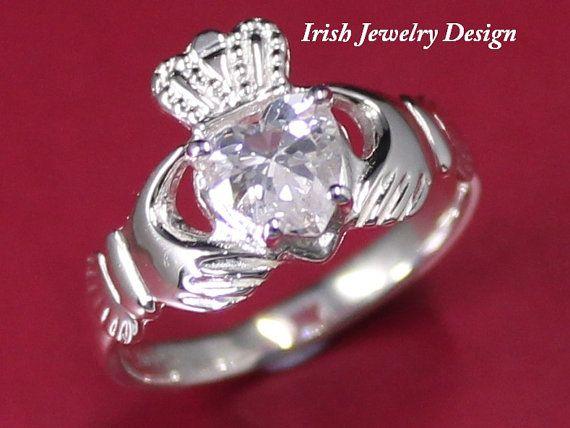 Claddagh ring ladies silver claddagh ring by IrishJewelryDesign