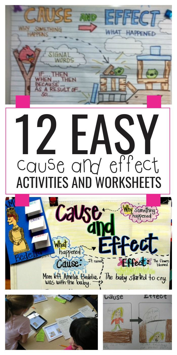 17 Best ideas about Cause And Effect Worksheets on Pinterest  education, alphabet worksheets, printable worksheets, learning, multiplication, and worksheets Cause And Effect Comprehension Worksheets 2 1400 x 700