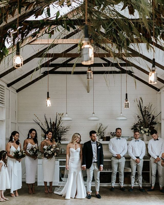 THIS WEDDING / See Melissa + Sam's stunning wedding now live on @ivorytribe . Gown - 'Blake/Mimi' combination from the D.Y.G Collection @kwhbridal • Location - @the_estate_trentham • Photographer - @marniehawsonweddings     I   Follow us @kwhbridal