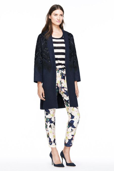 J.Crew Spring 2014 Ready-to-Wear Collection Slideshow on Style.com NAVY coat floral print