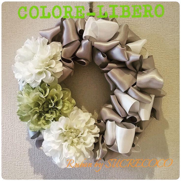 リボンリースレッスン | COLORE LIBERO★M-StyleLuxeリボンレッスン&オーダー☆西宮市名塩