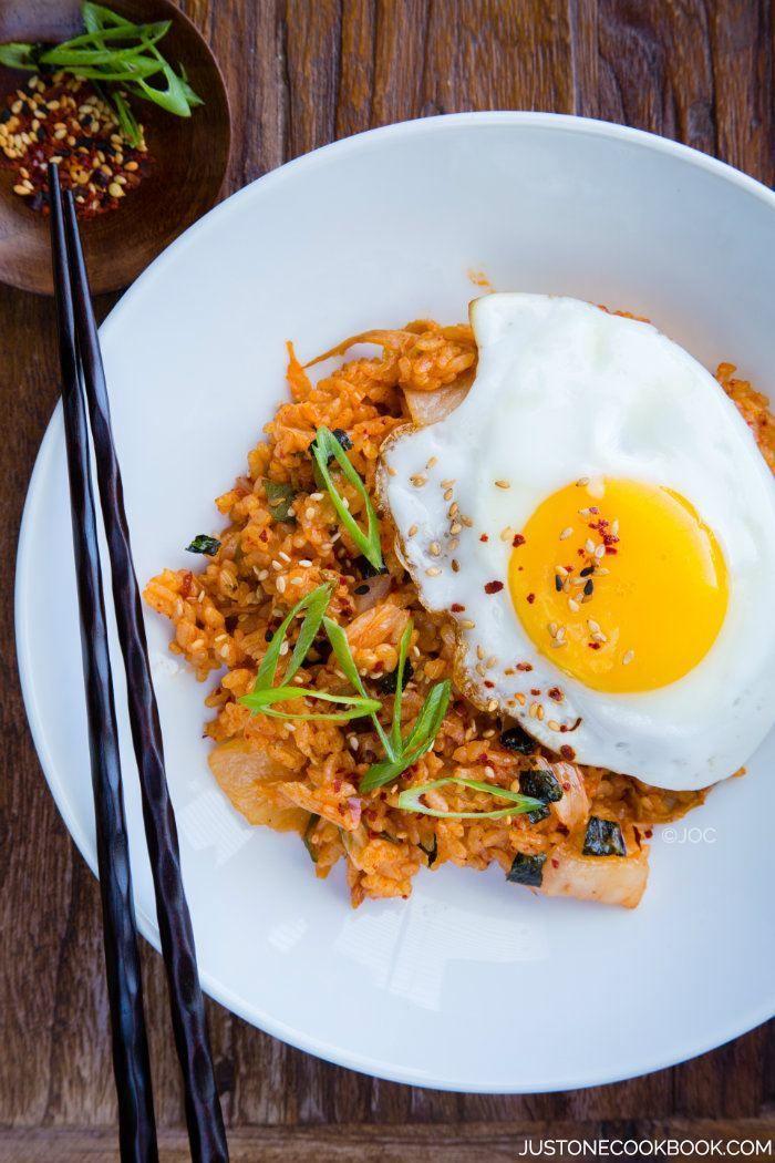 Kimchi Fried Rice   Easy Japanese Recipes at JustOneCookbook.com