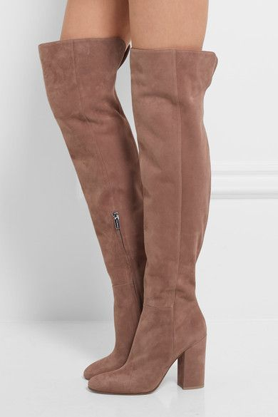 Gianvito Rossi - Suede Over-the-knee Boots - Taupe - IT37.5