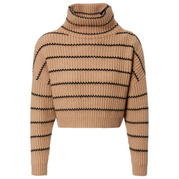 Brunello Cucinelli Damen Cropped Cashmere-Pullover Camel/Schwarz - bei... (£2,370) ❤ liked on Polyvore featuring tops, sweaters, shirts, cropped pullover sweater, pullover sweater, brunello cucinelli sweater, cut-out crop tops and camel top