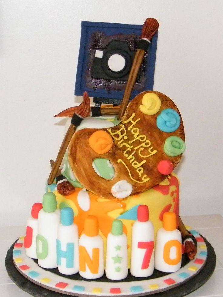 Artist Cake  on Cake Central