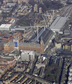 Areal view kings cross