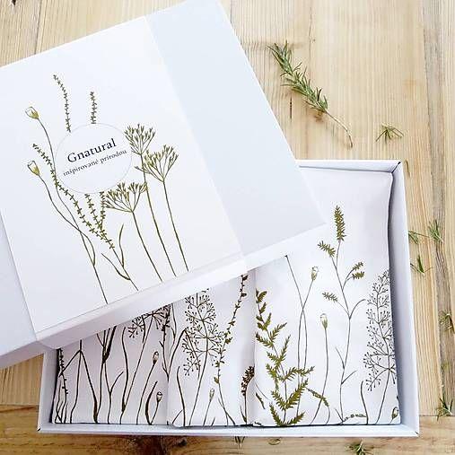 Gnatural / Darčekové balenie - trávy. Štóla a 2 vankúše