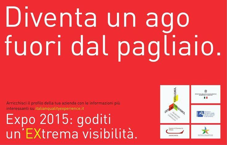 Sei un'impresa dell'agroalimentare italiano? Entra a far parte di un grande portale, arricchisci il profilo della tua azienda.  #Expo2015: goditi un'Extrema visibilità.  #Iqex