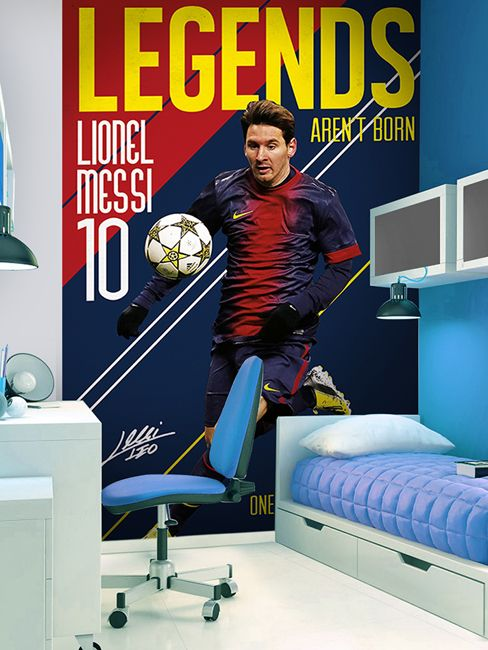 FC Barcelona Lionel Messi Wall Mural 2.32m x 1.58m - Kids Bedroom