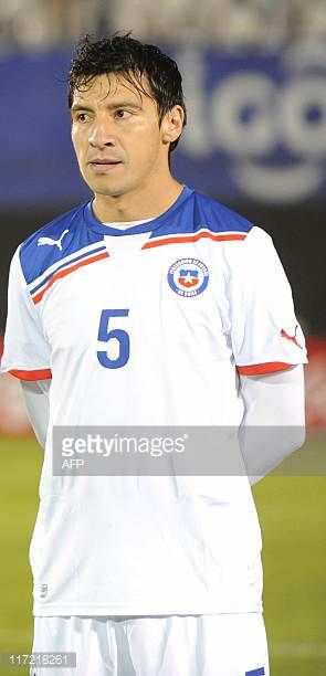 Chile's national football team player Pablo Contreras before their friendly match against Paraguay in Asuncion on June 23 2011 AFP PHOTO Pablo Burgos