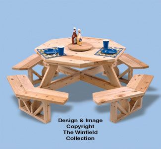 Octagon Picnic Table Woodworking Plan from the Winfield Collection.