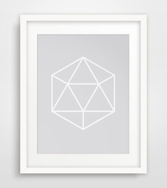 Silver Geometric Silver Gem Wall Art Silver by MelindaWoodDesigns