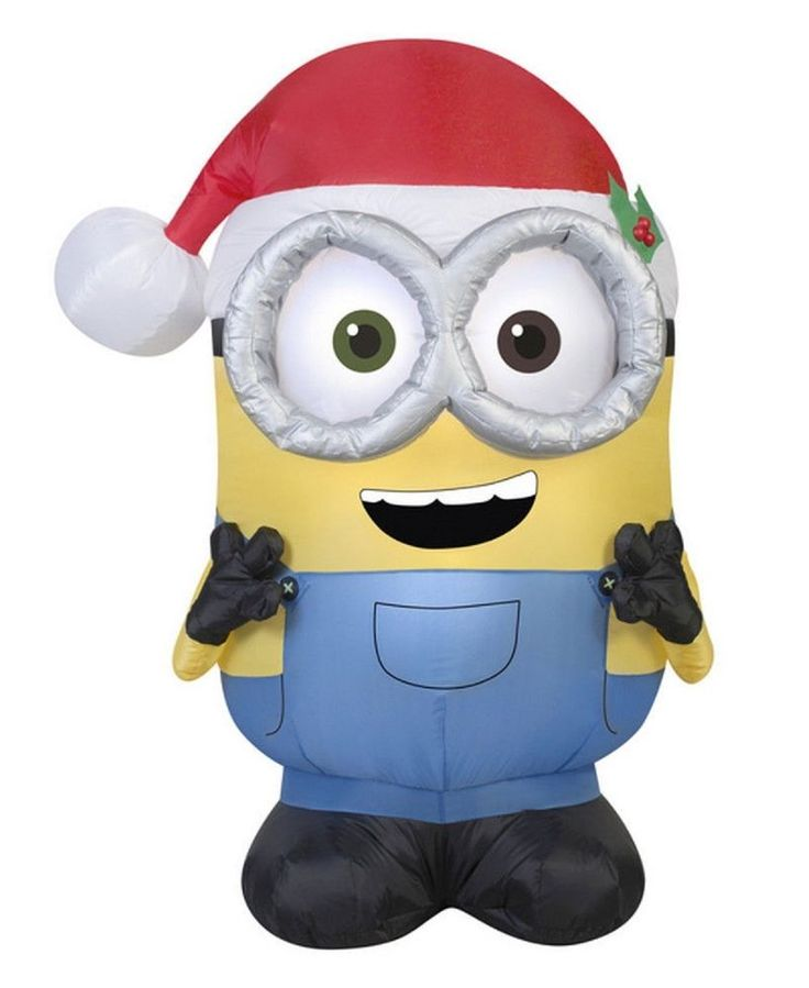 Despicable me christmas inflatable minion bob by gemmy for Decoration minion