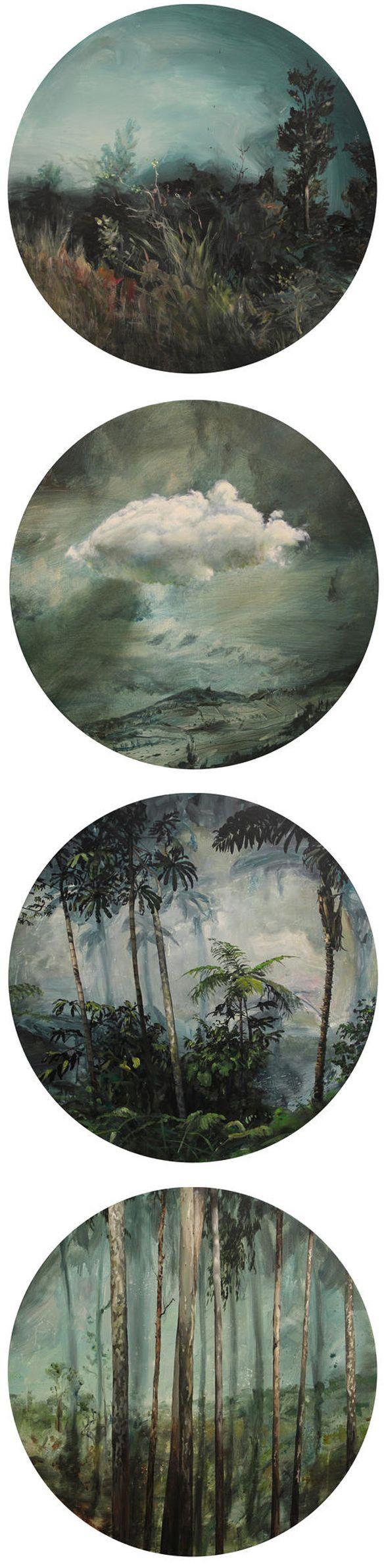 stefan peters - acrylic on circular canvas <3