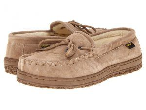Old Friend Cloth Lined Moccasin (Chestnut) Men's Slippers