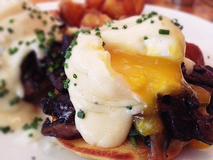 Wild Mushroom Benedict w/ Truffle Mornay Sauce ($13.50)