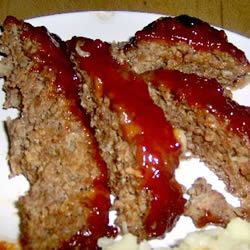 brown sugar meatloaf.  Use only 1/4 cup brown sugar with 1/2 c ketchup and 1 T worcestershire sauce.  Mix and use as glaze on top.  For filling, use 1/2 cup milk, 2 cloves garlic, only one egg, and 1 cup seasoned bread crumbs.  Form into loaf and put in large casserole dish to bake.  Pour off greae as it cooks.