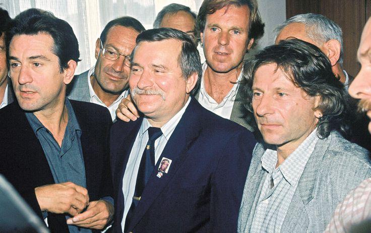 September 1989 in Gdańsk: Robert De Niro, Arnon Milchan, Solidarity leader Lech Wałęsa, Wojciech Fibak & Roman Polanski.