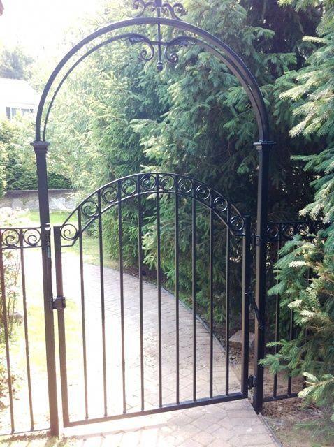Wrought Iron Walk Gate And Arbor Wroughtironpatiochairs Iron