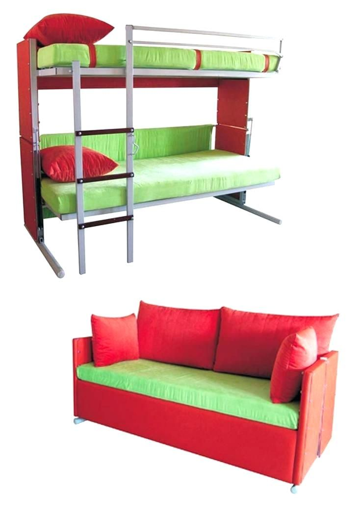 Couch Bunk Beds Convertible Loft Bed With