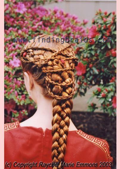 multiple strand plaiting red hair