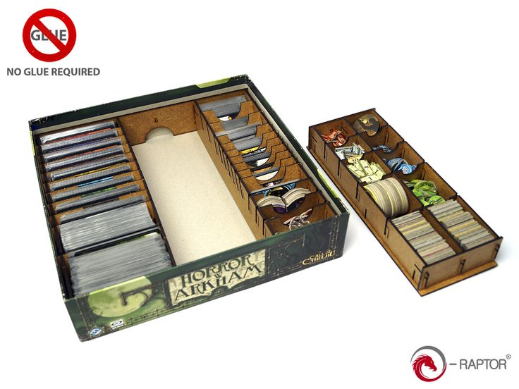 Another picture of our Arkham Horror insert: