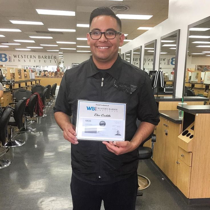 Congratulations to Eber Castillo for receiving his barber license! All of your hardwork has paid off can't wait to see where you go next! Good luck  #westernbarberinstitute #wbibarbers #barberlife #barberschool #licensedbarber #barberstudent