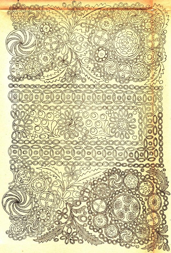 Trnava, nákres vyšívaných rukávců kroje. 1920 « Archiv časopisu Slavonie