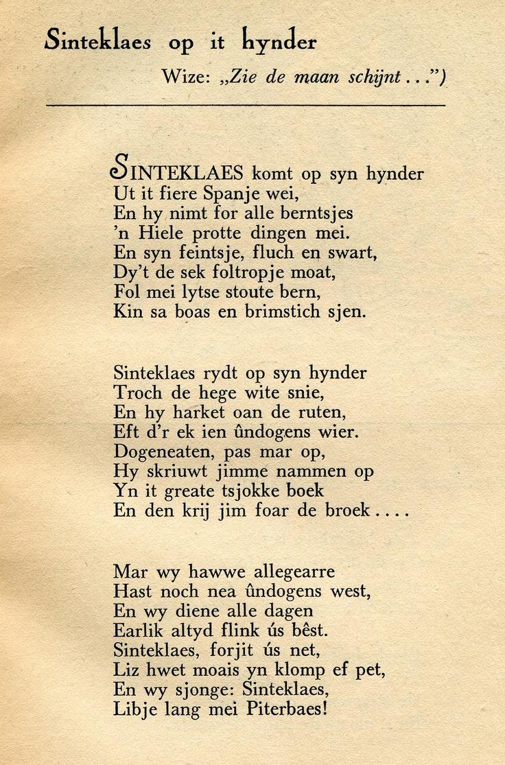 Ut: Frysk Sinte Klazeboek, 3033 Fr bis, kolleksje Tresoar