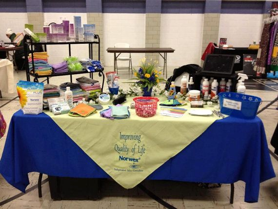 Table Display Ideas littlemissmillie Trade Show Personalized Table Covering Tablecloth Professionally Embroidered Your Colors Home Show Event Wedding Display