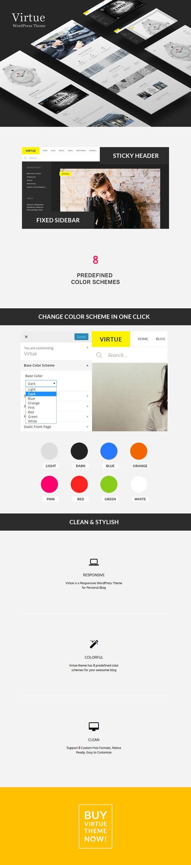 Virtue WordPress Theme by ShakeDesign on Creative Market
