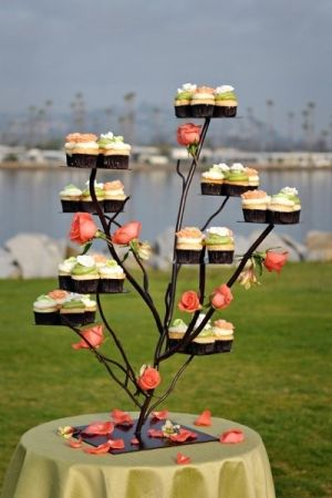 Cupcake Stand - love this idea, not sure where to find the stand though.