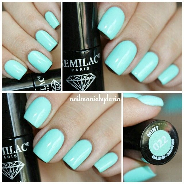 @nailmaniabydaria #nails #mint #manicure