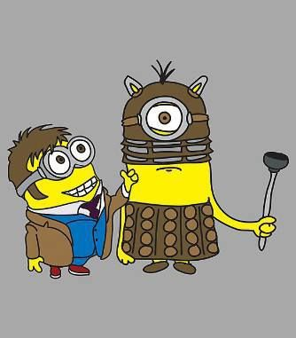 Why steal the moon when you've already stolen the #tardis ? #doctorwho #minions